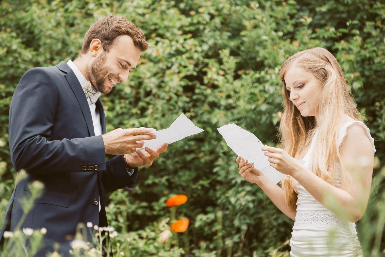 Reading vows Destination wedding at Bojnice