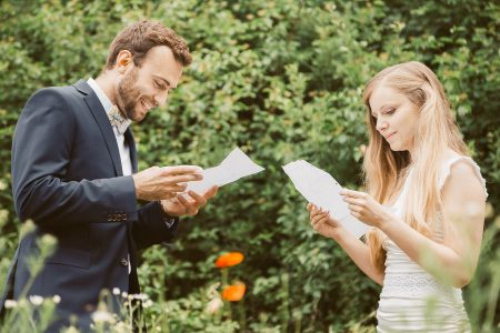 Reading vows Destination wedding at Bojnice