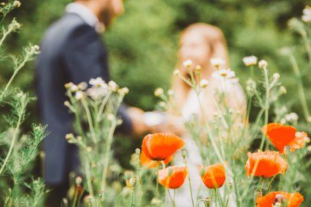 field flowers Destination wedding at Bojnice