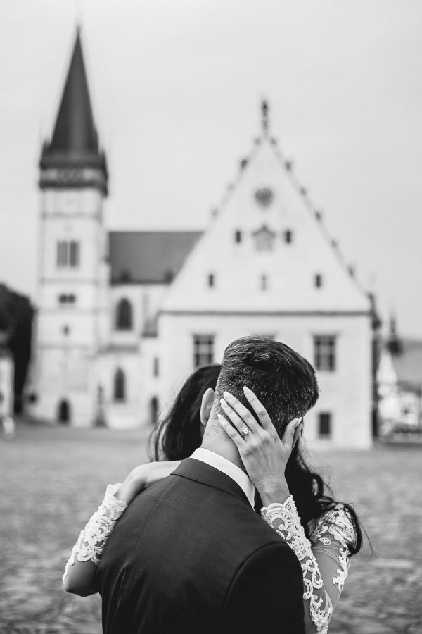 Destination wedding portrait in Bardejov