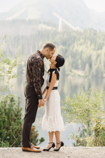 Destination engagement photoshoot in High Tatras, Strbske Pleso