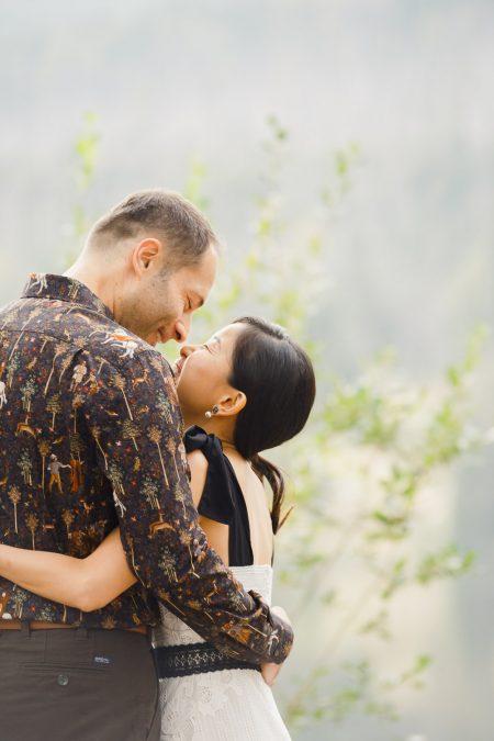 Destination prewedding shoot in High Tatras, Strbske Pleso