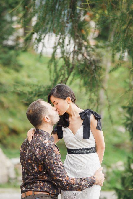 Engagement photoshoot at Strbske Pleso