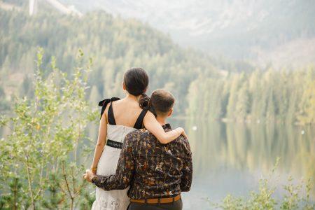 Destination engagement photoshoot in High Tatras Strbske Pleso