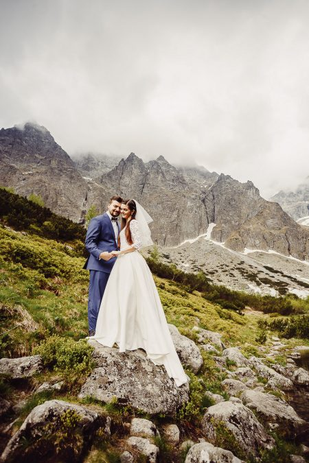 Bride and Groom High Tatras destination photoshoot