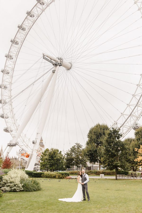 Timeless english destination wedding | london eye