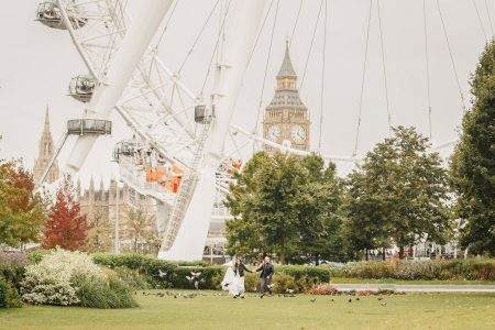 English destination wedding | london eye |big ben