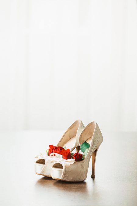 Bridal shoes details