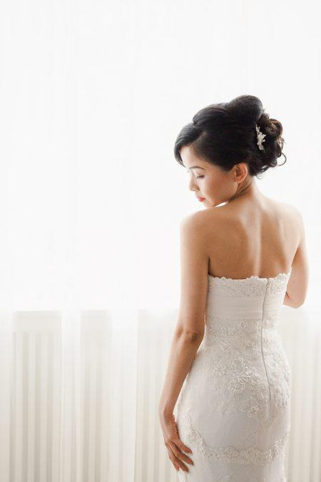 Portrait of bride Destination wedding